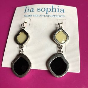 Rare Retired Lia Sophia Milky Way Earrings